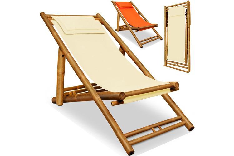 Deuba chaise longue en bambou transat