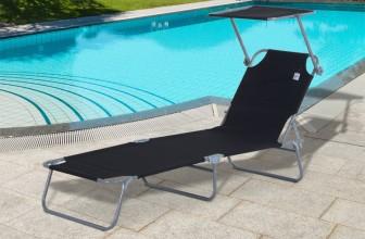 Outsunny 84B-001BK : le transat bain de soleil pliable et confortable