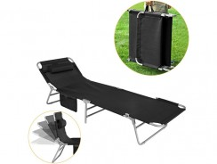 SoBuy OGS35-Sch : la simplicité d'une chaise transat