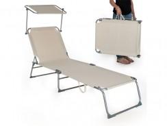 TecTake Chaise longue Beige : le transat idéal pour se relaxer en beauté